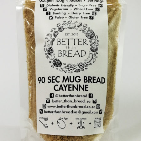 Better Than Bread - 90 Second Mug Bread - Cayenne