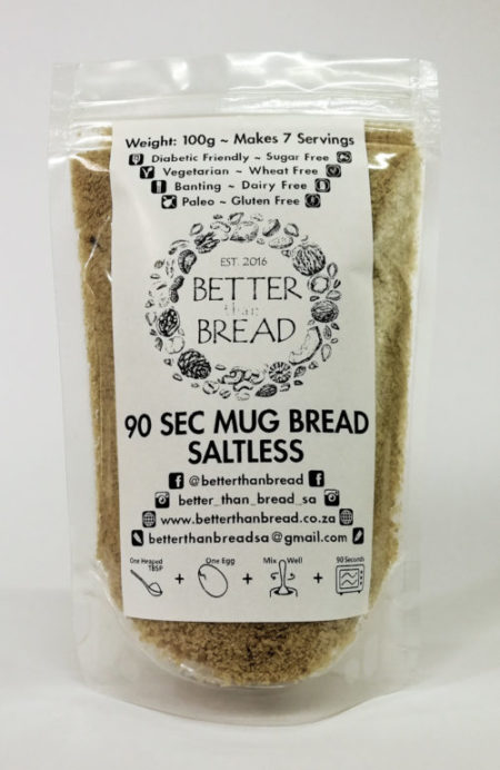Better Than Bread - 90 Second Mug Bread - Saltless
