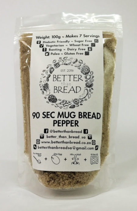 Better Than Bread - 90 Second Mug Bread - Pepper