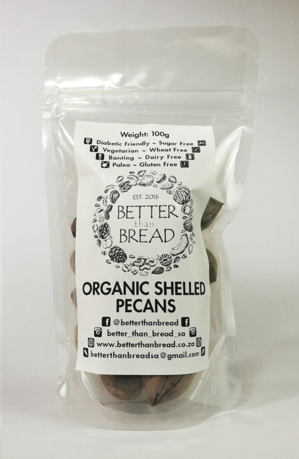 Better Than Bread - Organic Pecan Nuts 100g