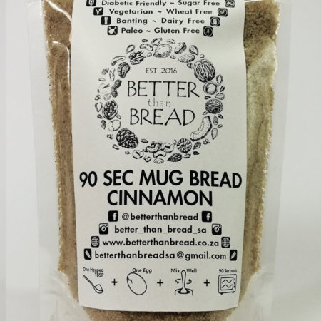 Better Than Bread - 90 Second Mug Bread - Cinnamon