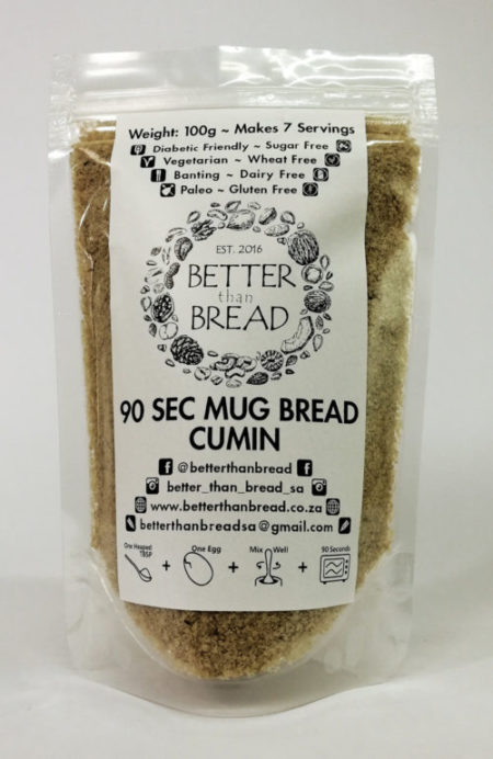 Better Than Bread - 90 Second Mug Bread - Cumin