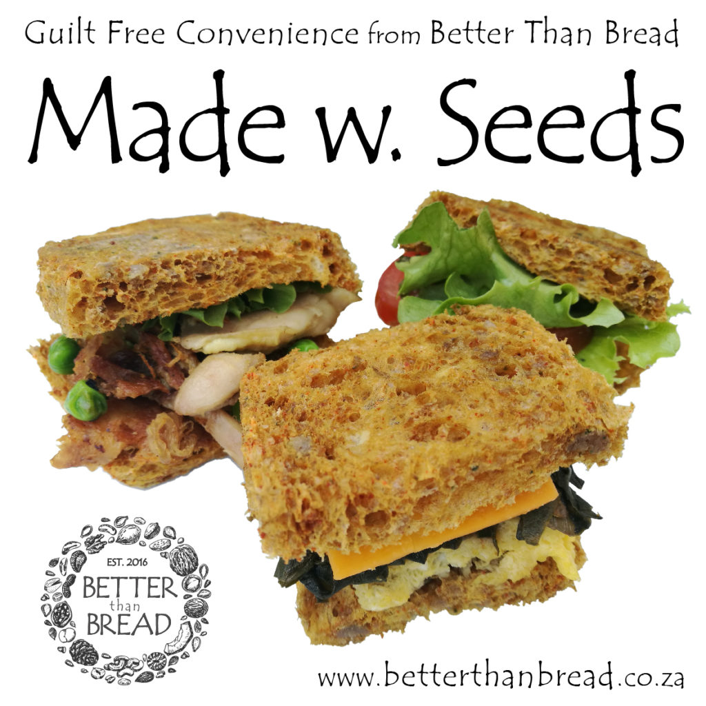Delicious sandwich trio showcasing Better Than Bread made into sandwiches. Seeds into bread, amazing.