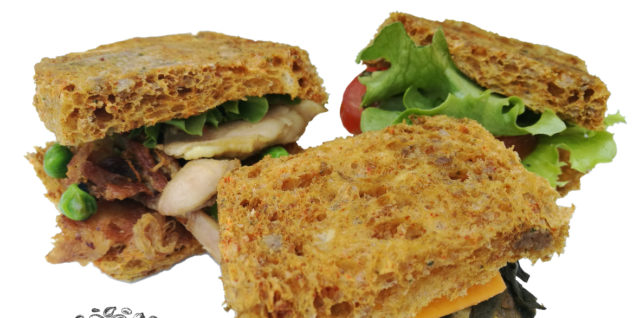 Delicious sandwich trio, showcasing Better Than Bread, Made w. Seeds